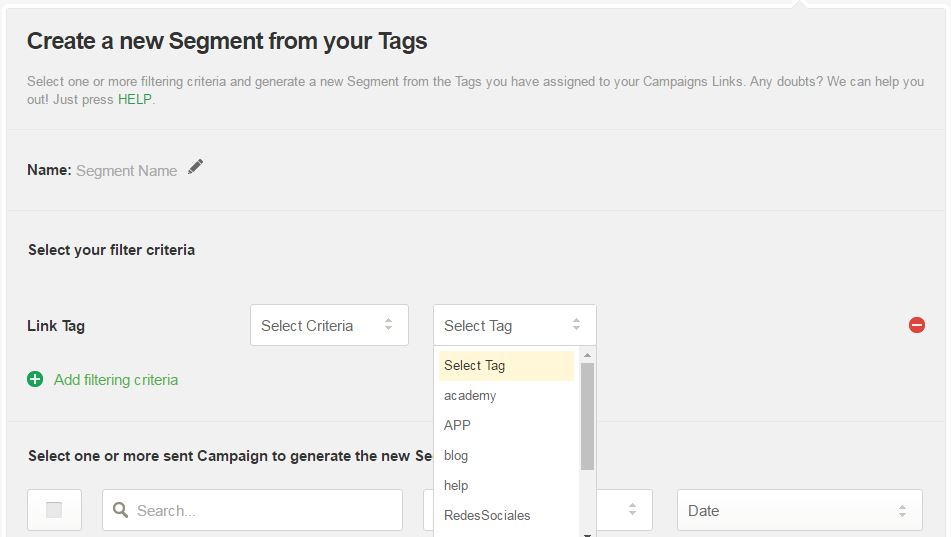 How to create a Segment from Tag Links