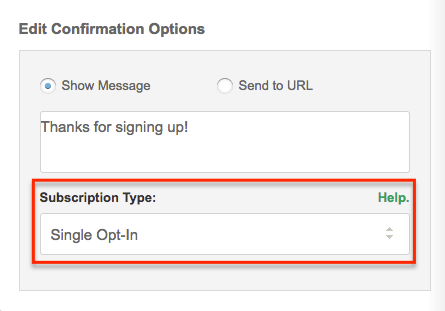 Simple and Double Opt-In Forms