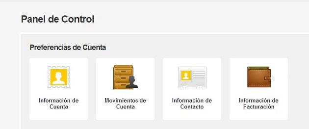 Información de Cuenta