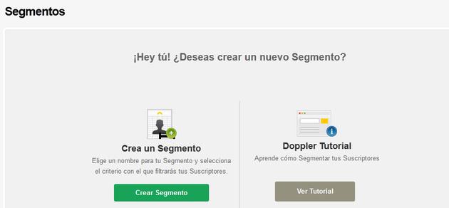 Crear Segmento