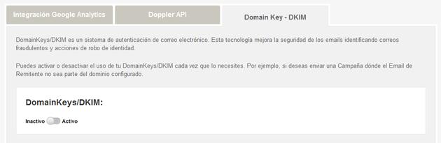 Configurar DomainKey