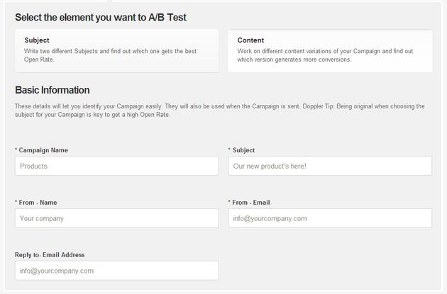 Test A/B Campaign