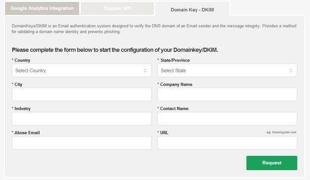 Activate Domain Keys