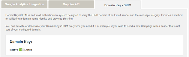 Activate Domain Keys