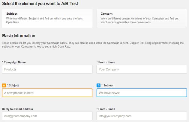 Test AB Campaign