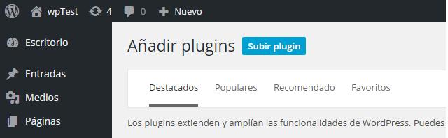 Subir plugin