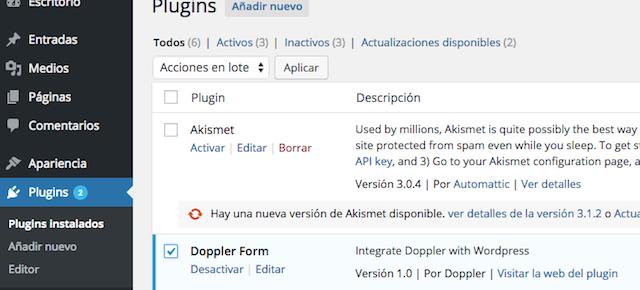 Doppler con otros plugins