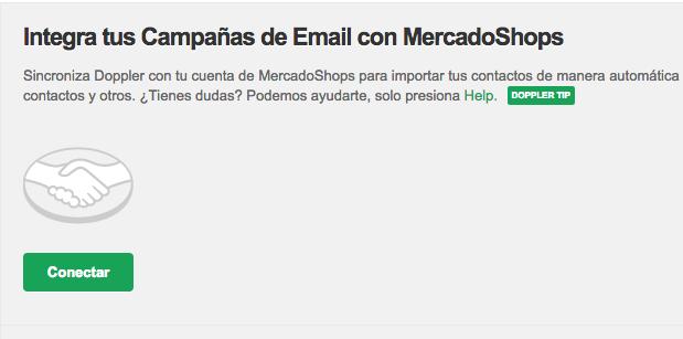 Conecta MercadoShops y Doppler