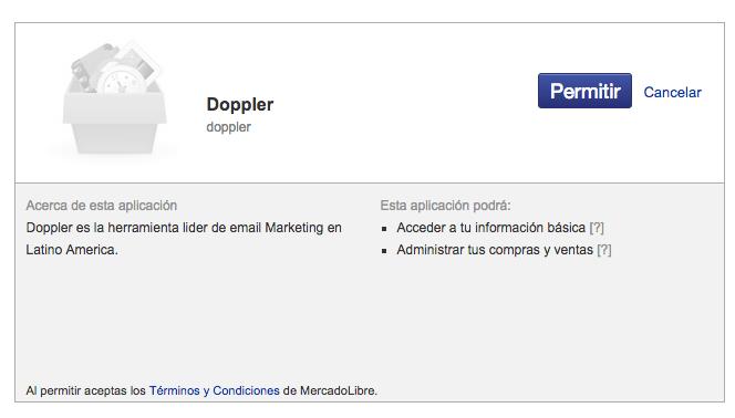 Permisos Doppler MercadoShops