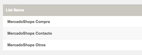 MercadoShops Doppler Lists