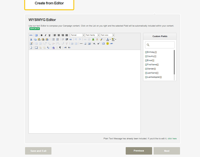 Create your Campaign from Editor