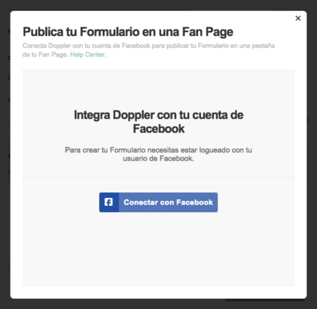 Integrar Facebook con Doppler
