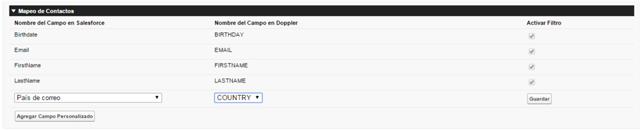 Doppler en Salesforce Campos personalizados
