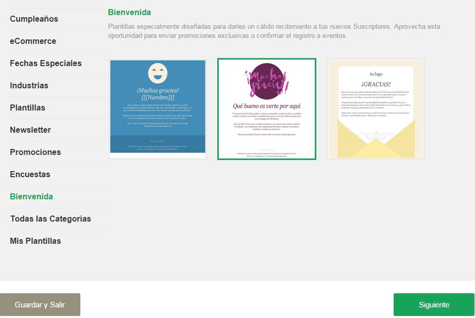 Email Automation configuracion de Plantillas