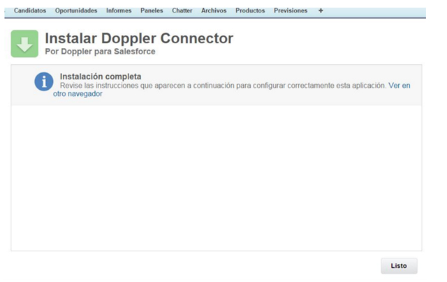 Doppler integración con Salesforce