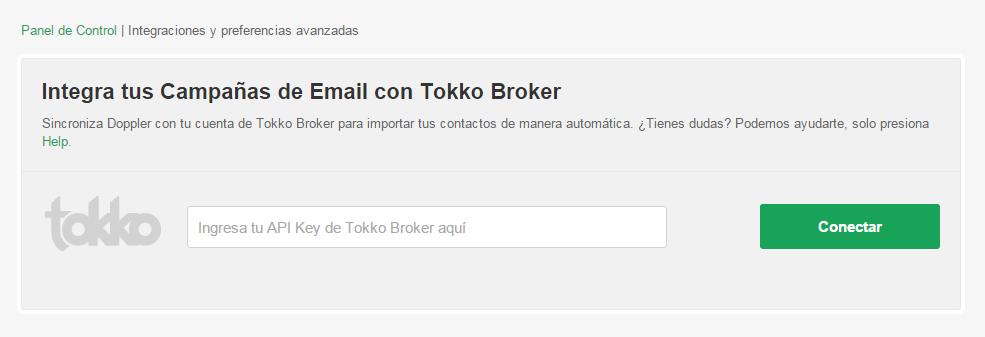 Api Key Tokko Broker integración con Doppler