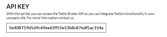 Copy and paste your Tokko API Key into your Doppler account.