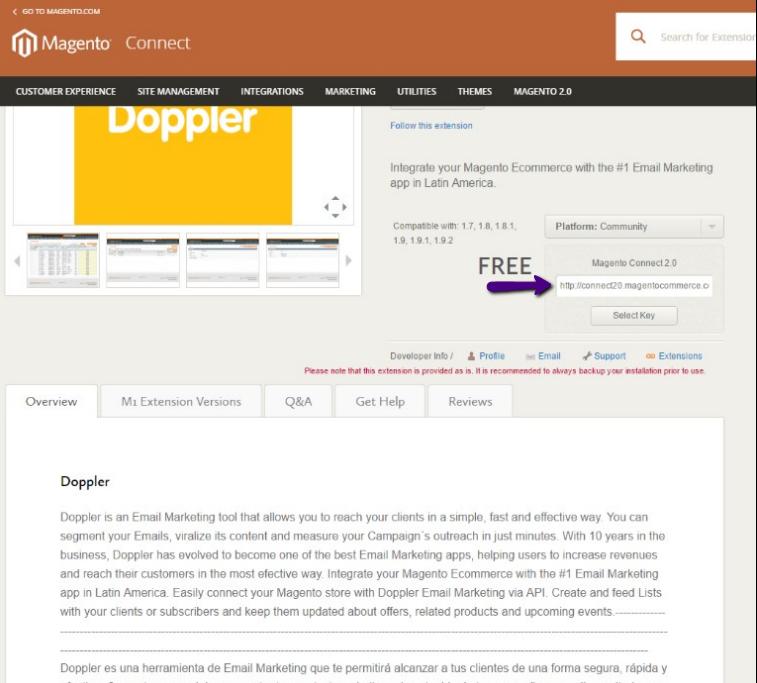 Integración de Magento con Doppler