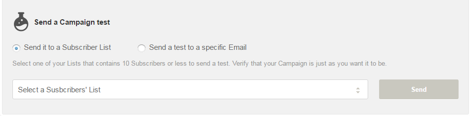 Email Campaign test