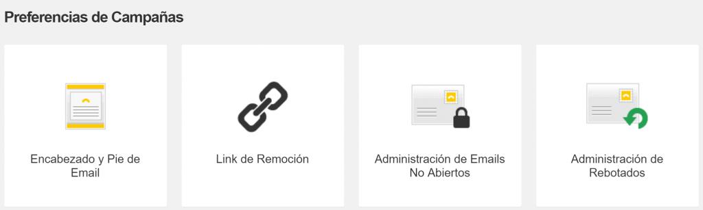 Administración de Emails no abiertos