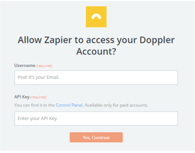 Doppler - Unbounce Integration: login to doppler