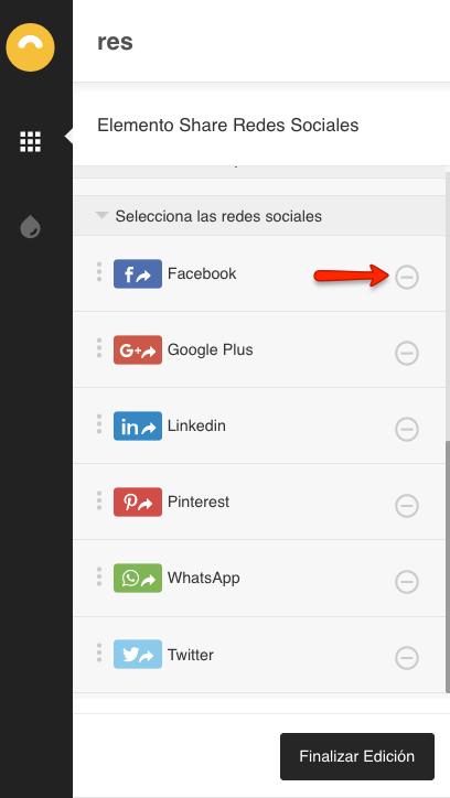 Compartir en WhatsApp: Agregar y quitar redes sociales