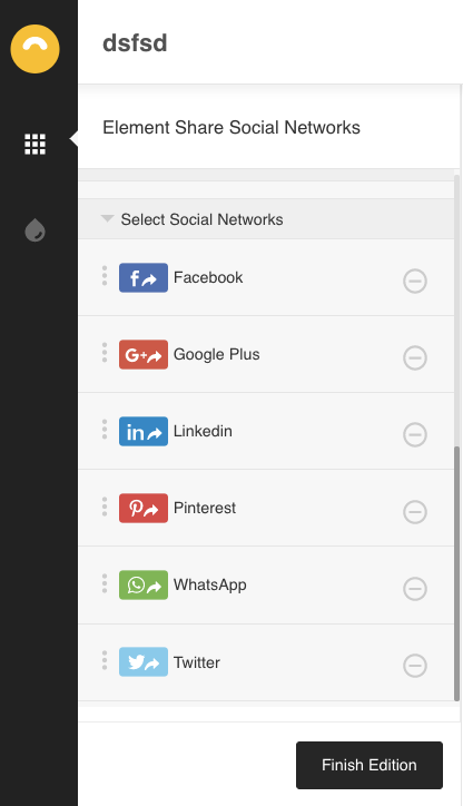 Share in WhatsApp: select social networks