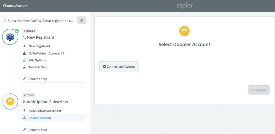 Conectar con cuenta Doppler