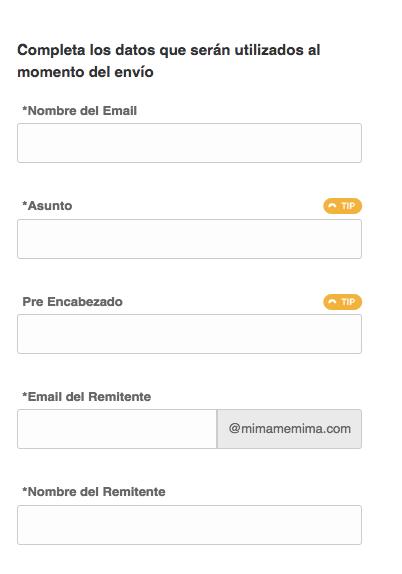 Información básica del Email