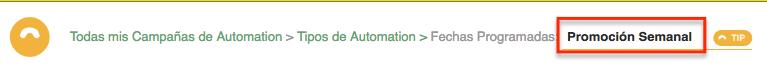 Nombre Automation por Día de la Semana