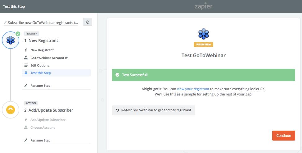 Successful Webinar Test