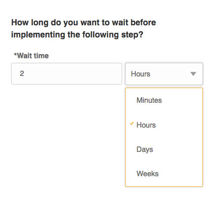 Wait time option