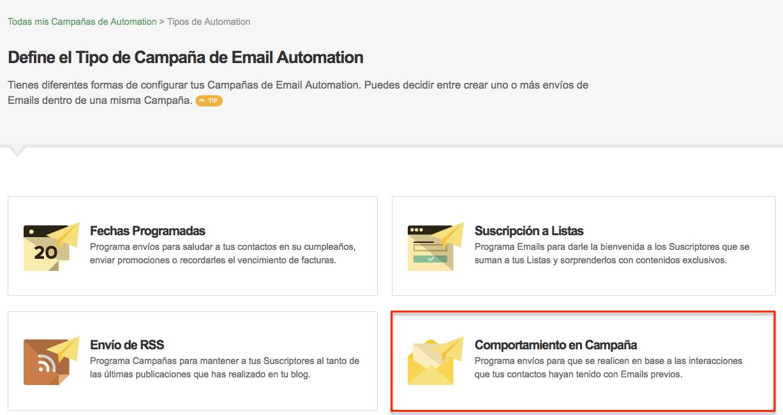 Automation por Comportamiento en Email