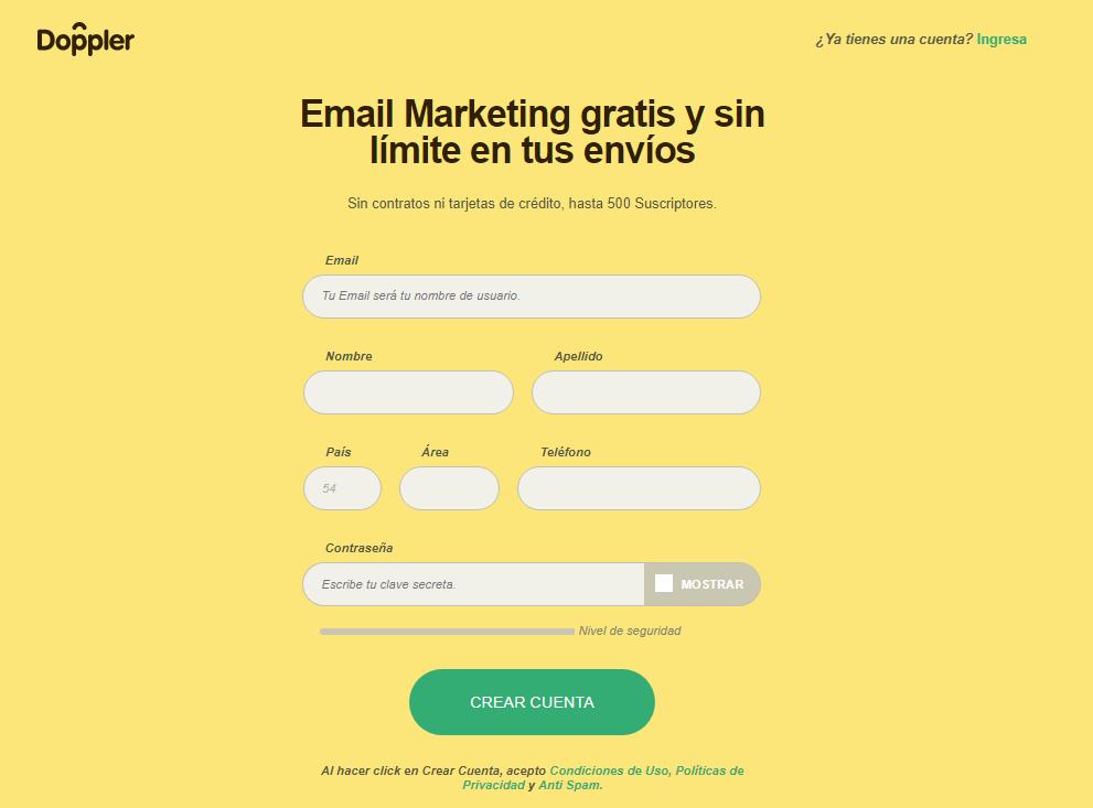 """Haz clic en """"Crear Cuenta""""."""
