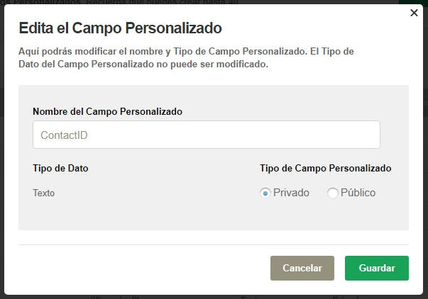 Campos personalizados Doppler