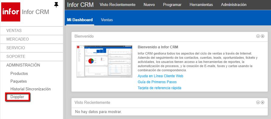 Admin Infor crm