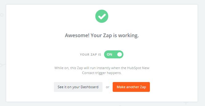 ¡Recuerda activar tu Zap!