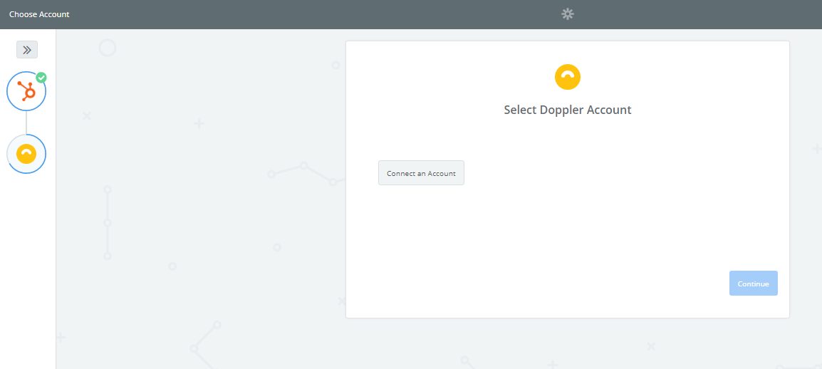 Conecta tu cuenta de Doppler.