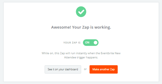Define and activate your Zap.