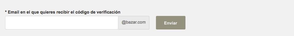 Ingresar email para recibir código de verificación