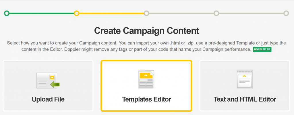 "Select the ""Templates Editor""."
