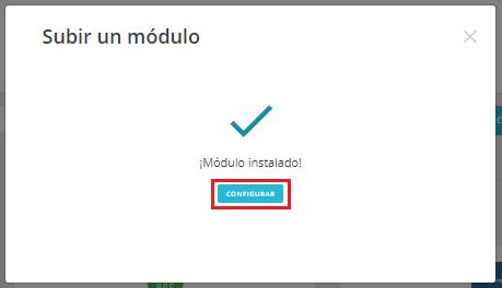 El módulo se ha instalado correctamente.