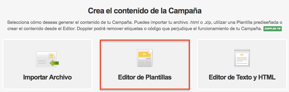 Editor de Plantillas