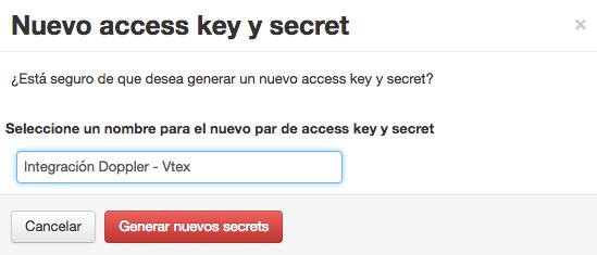 Generar nuevos secrets Vtex