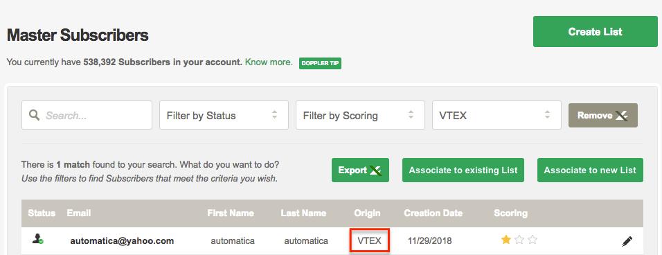 Vtex origin Subscriber