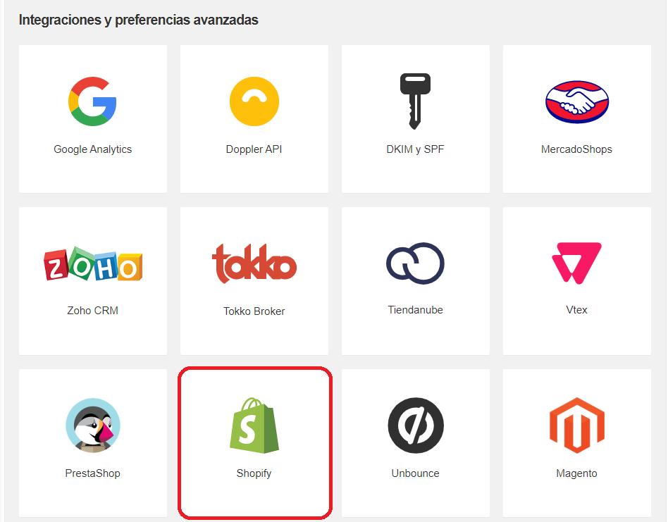 Shopify - Integraciones avanzadas