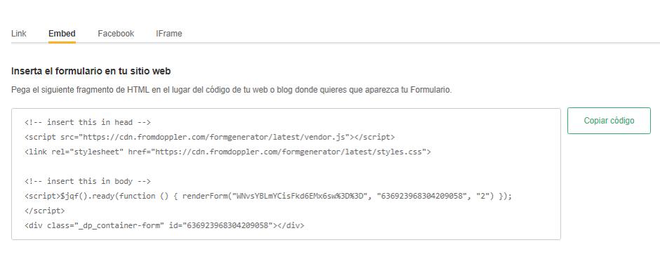 Ver código del Formulario