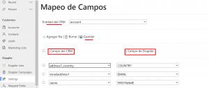 dynamics mapeo campos